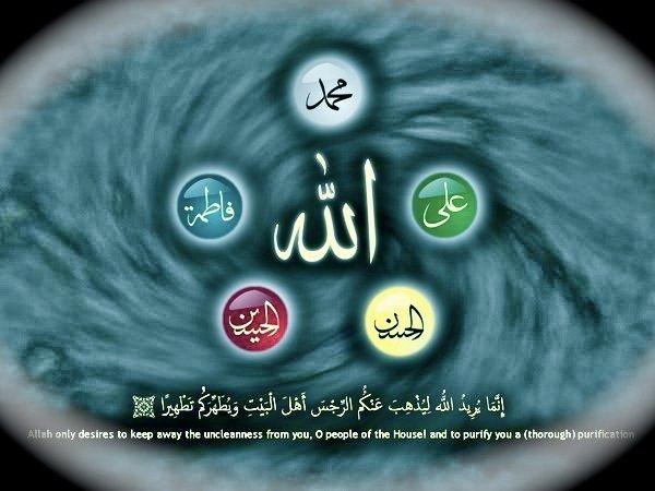 Maula Ali Shrine Wallpaper: Allah, Ayat Al-Tathir & Ahl Al-Bait