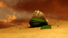 Imam Hossein's Helmet after Ashora